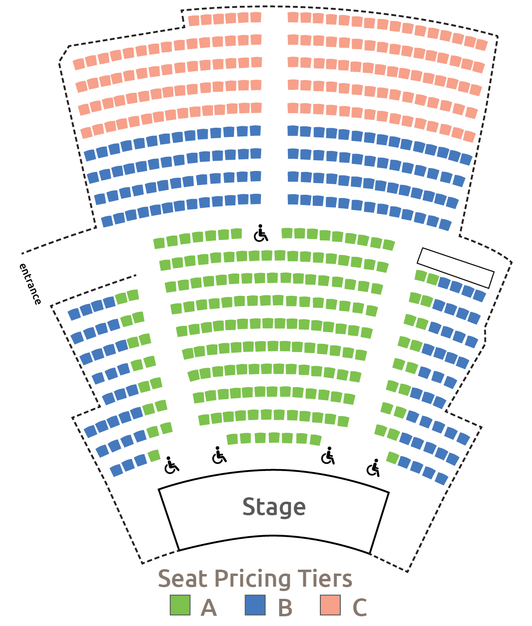 White Theatre Seating Chart 2019-2020